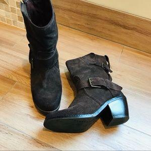 Dolce Vita Chocolate Brown Moto Mid Calf Boot